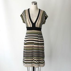 Missoni M Line Zigzag Knit Empire Waist Dress